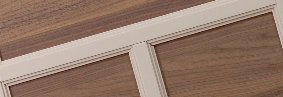 Production of solid wooden doors for classic kitchens