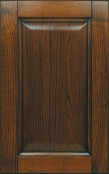Ashwood kitchen cabinet front door Dark Chestnut finish