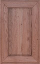 Solid oak kitchen cabinet front door with mitered frame cut