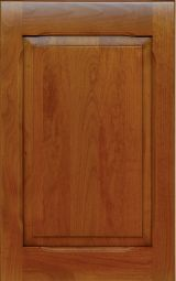 Solid wood kitchen cabinet front door, antique cherry finish