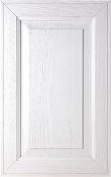 Solid ash wood kitchen cabinet front door; White decap� with antique finish