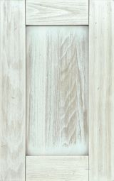 Solid wood kitchen cabinet door white shaded with shabby effects