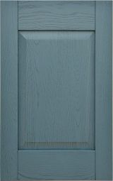 Kitchen cabinet front door in brushed solid ashwood, lacquered Anthracite with dark patina